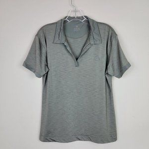 Mercedes-Benz Taupe Satin Pullover Short Sleeves T